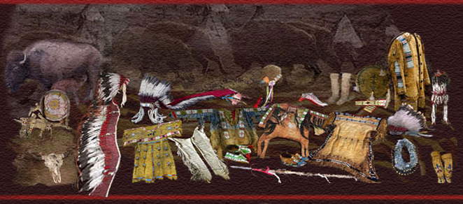 Native American Plains Indian Clothing Beadwork Weapons