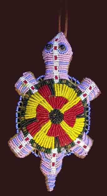Umbilical Cord Holders Beaded Amulets Plains Indian