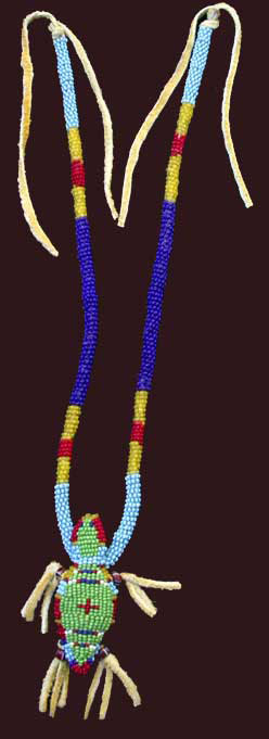 beaded amulet necklace