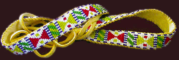 beaded Apache hat band