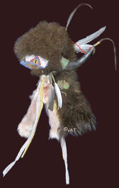 Buffalo fur headdress