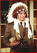 Johnny Depp with Plains Headdress