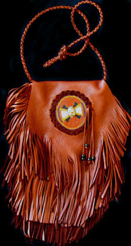 contemporary fringed bag