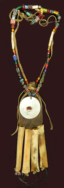 hidatsa medicine bag with necklace