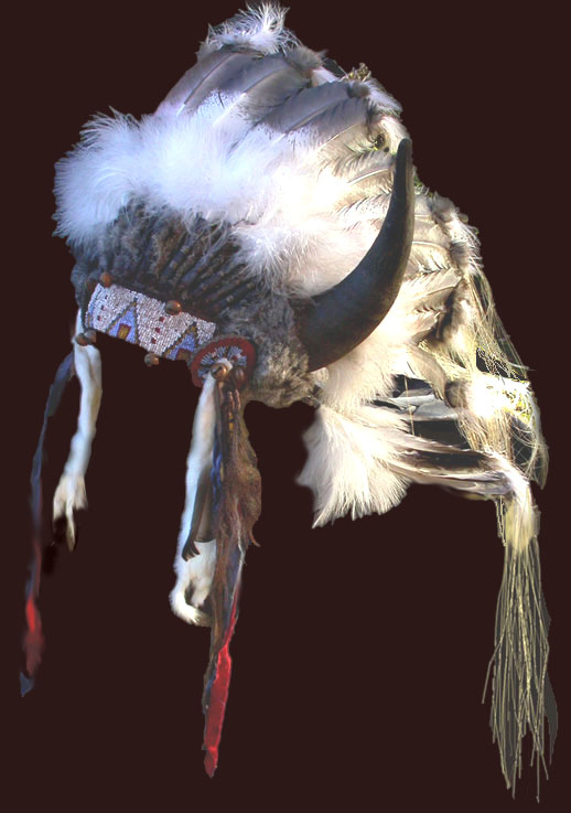 Split horn headdress