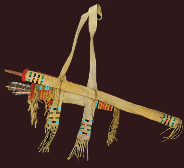 Crow Bow Case and Quiver ca.1865