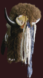 Buffalo Fur and Horn Headresses