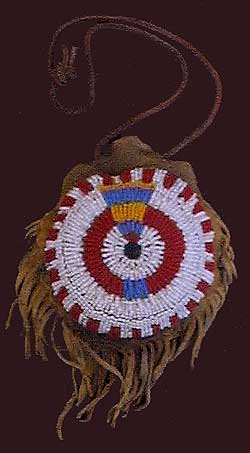 Plains Indian Beaded Belt Pouch